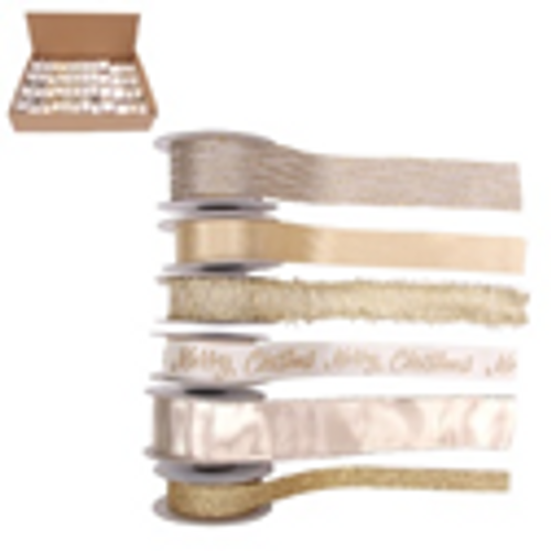 6A 2M CHAMPAGNE RIBBONS IN PDQ