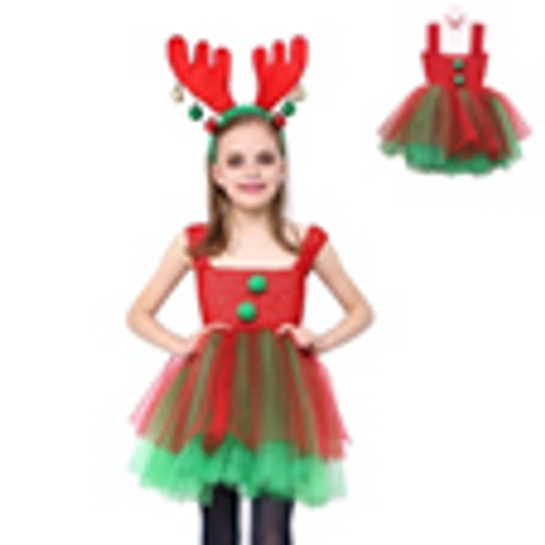 KIDS CHRISTMAS ELF TUTU DRESS