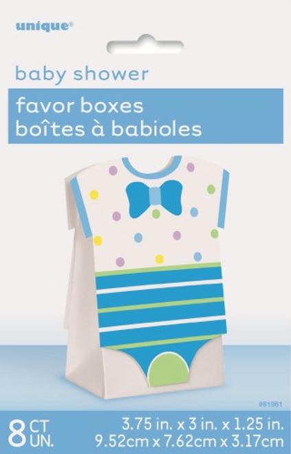 BLUE DOTS B/S - 8 FAVOR BOXES