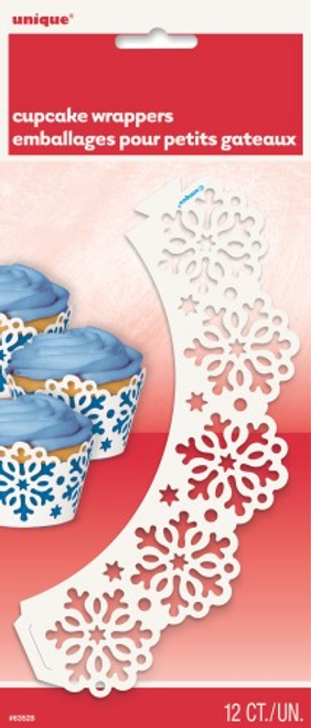 12 SNOWFLAKE CUPCAKE WRAP