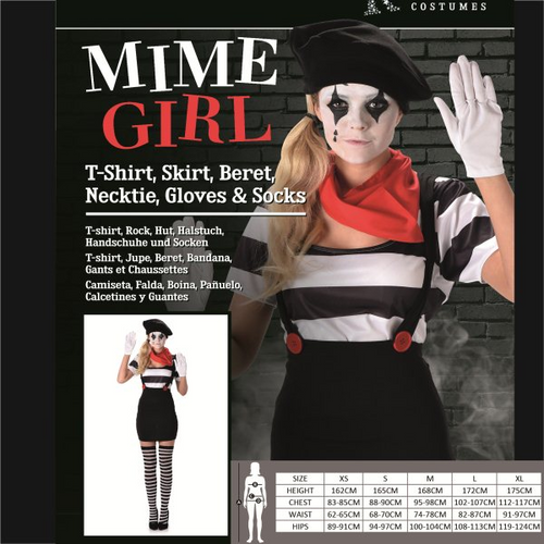 MIME GIRL SIZE M