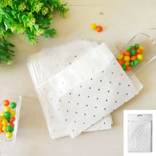 *10pk Silver Dotty Treat Bag