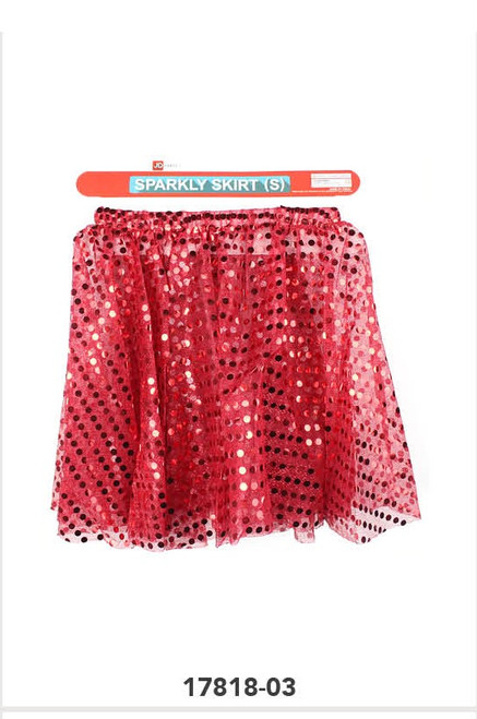 Sparkly Skirt (S) (Red)