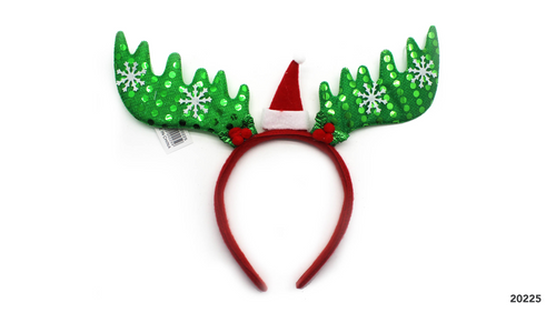 Christmas Headband (Reindeer Green)