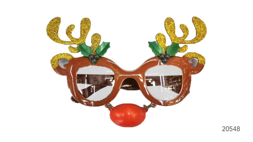 Party Glasses Rudolf Reindeer