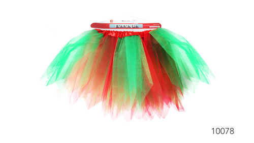Tutu (S) Christmas Red & Green