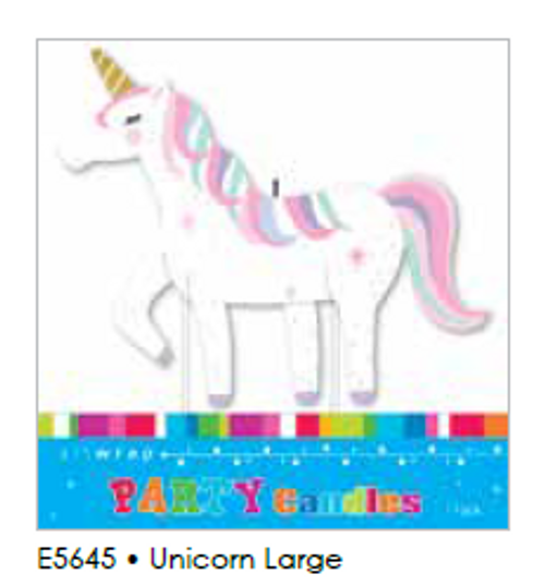 CANDLE LARGE UNICORN