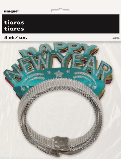 4 NEW YEARS GLITTER TIARAS