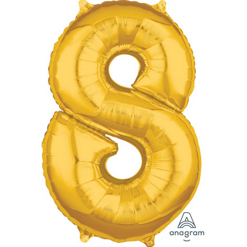 Mid-Size Shp Gold Number 8 L 2