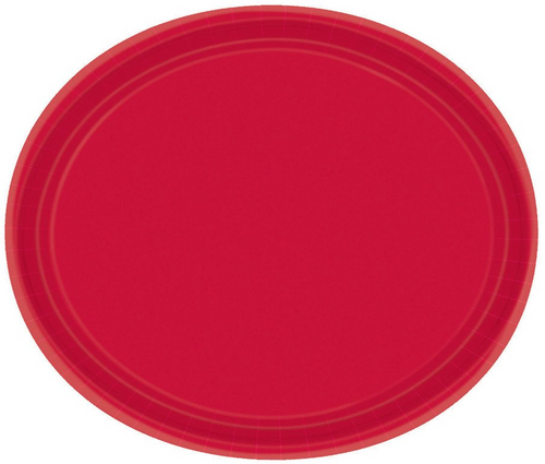 Ppr Plates Oval 30cm Apple Red