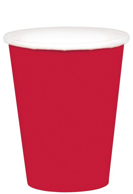 9oz/266ml Cups Ppr 20CT Apple Red