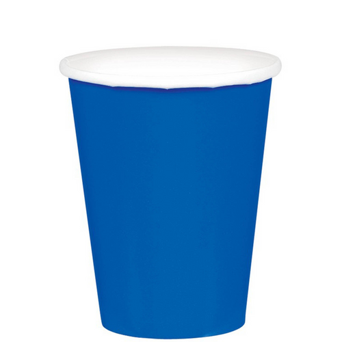 9oz/266ml Cups Ppr 20CT Bright Royal Blue