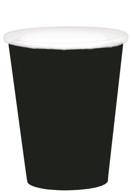 9oz/266ml Cups Ppr 20CT Jet Black