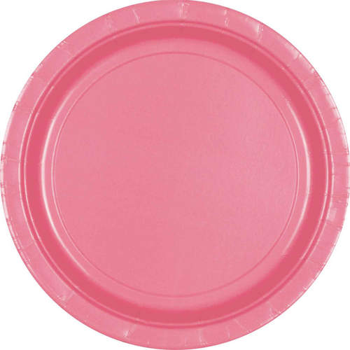 Ppr Plates 9in/23cm Rnd 20CT-New Pink