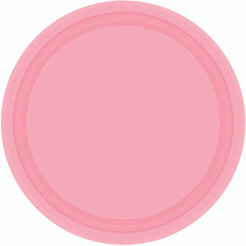 Ppr Plates 7in/17cm Rnd 20CT-New Pink