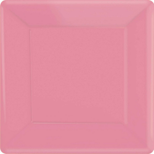 Ppr Plates 10in/26cm Squ 20CT-New Pink