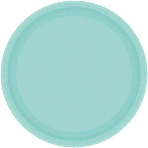 Ppr Plate 10in/26cm Rnd 20PK Robins Egg Blue