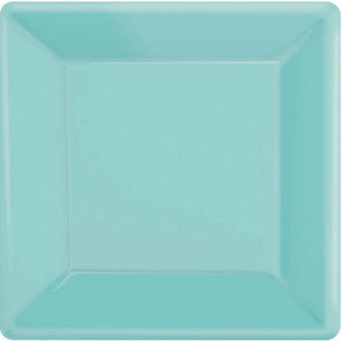 Ppr Plate 10in/26cm Squ 20PK Robins Egg Blue