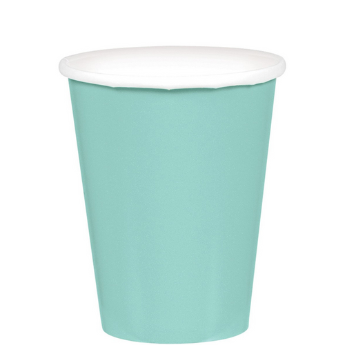 9oz/266ml Cups Ppr 20PK Robins Egg Blue