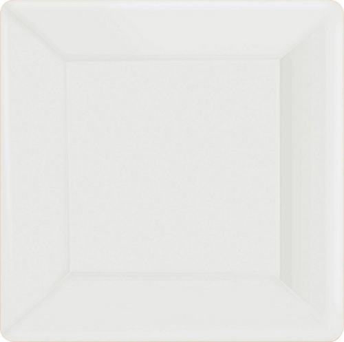 Ppr Plates 10in/26cm Squ 20CT- Frosty White