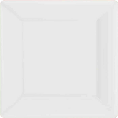 Ppr Plates 7in/17cm Squ 20CT-(Frosty White)