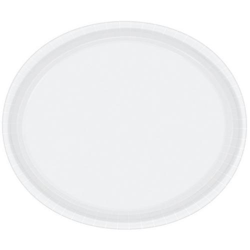 Ppr Plates Oval 30cm Frosty White