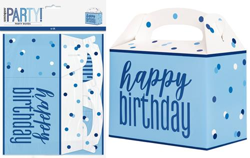 BLUE H/B'DAY 6 PARTY BOXES