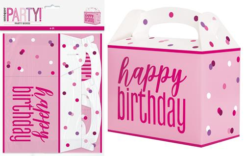 PINK H/B'DAY 6 PARTY BOXES