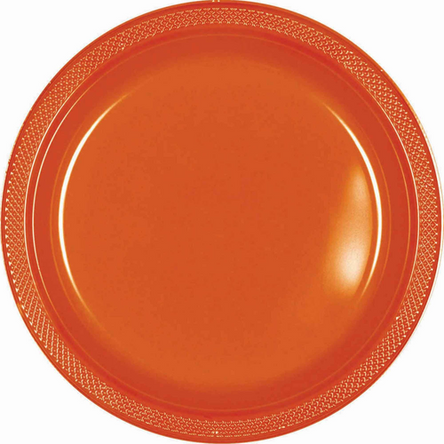 Plas Plates 17.7cm 20CT-Orange