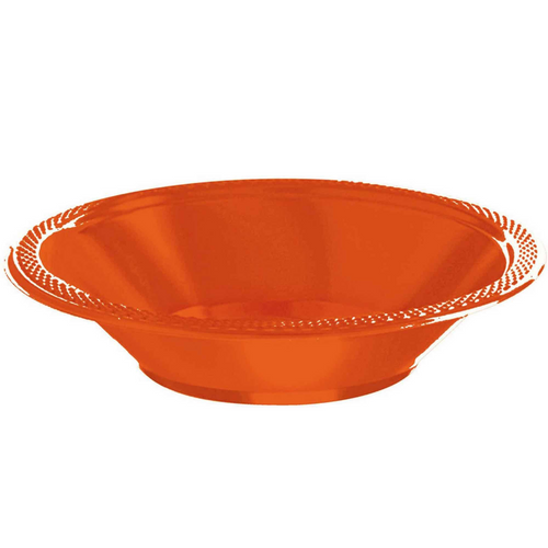 Plas Bowl 355ml 20CT-Orange