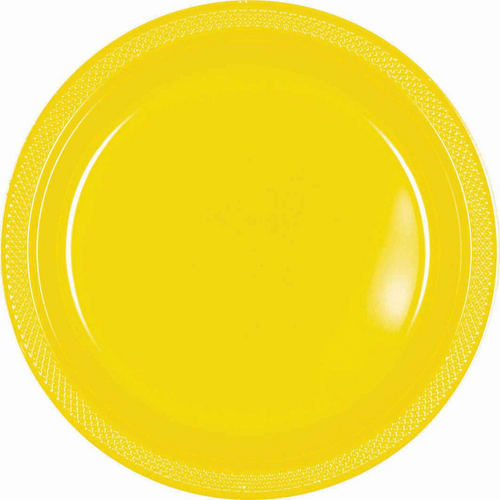 Plas Plates 17.7cm 20CT-Yellow