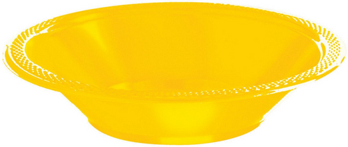 Plas Bowl 355ml 20CT-Yellow Su