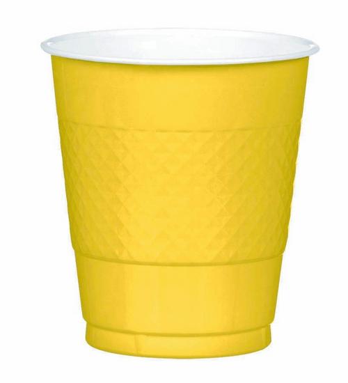 Plas Cup 355ml 20CT-Yellow Sun