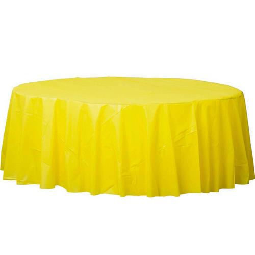 Plas Rnd TCover-Yellow Sunshin