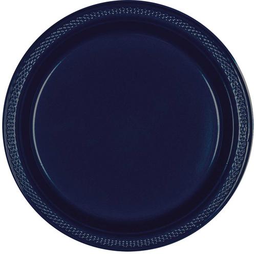Plas Plates 17.7cm 20CT-Navy