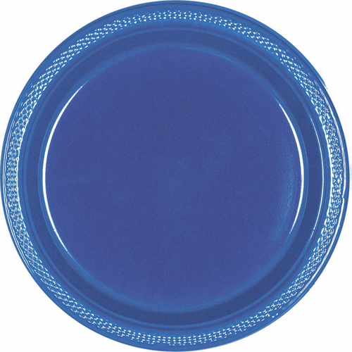 Plas Plates 17.7cm 20CT-Navy F