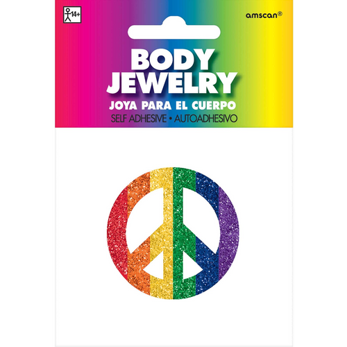 Gltr Peace Sign Body Jewelry