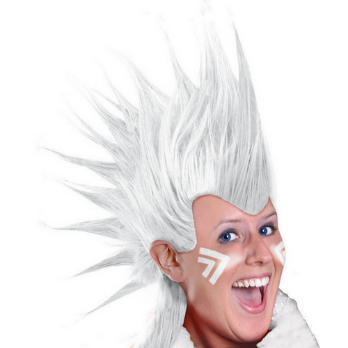 Mohawk Wig - White*