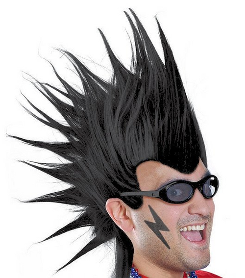 Mohawk Wig - Black*