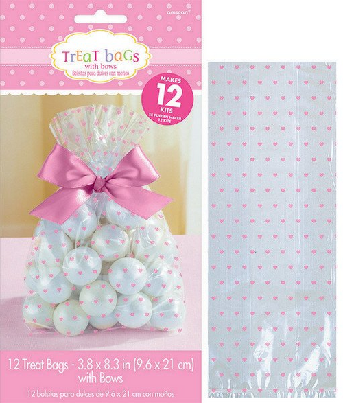 Baby Shw Pink Cello Treat Bag