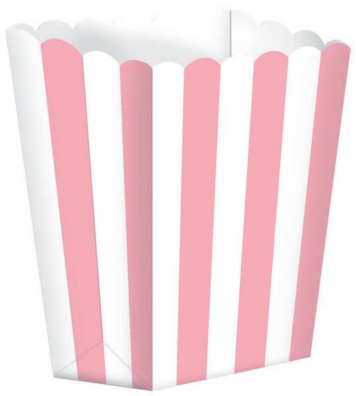 Popcorn Fav Boxes Small Stripe New Pink*
