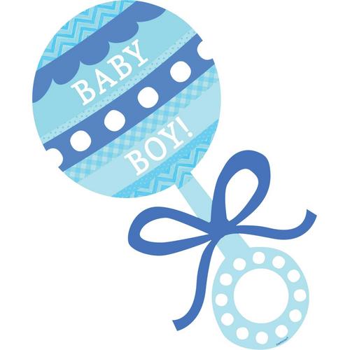 Baby Shw Blue Baby Boy Rattle
