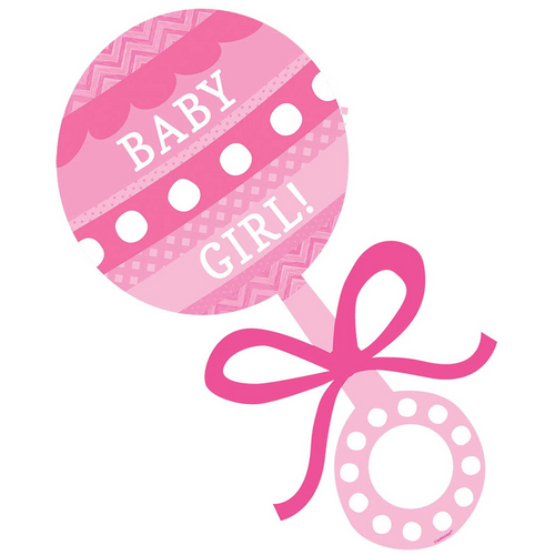 Baby Shw Pink Baby Girl Rattle