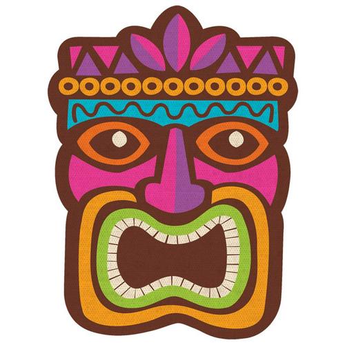 Summer Luau Tiki Cardb Cutout