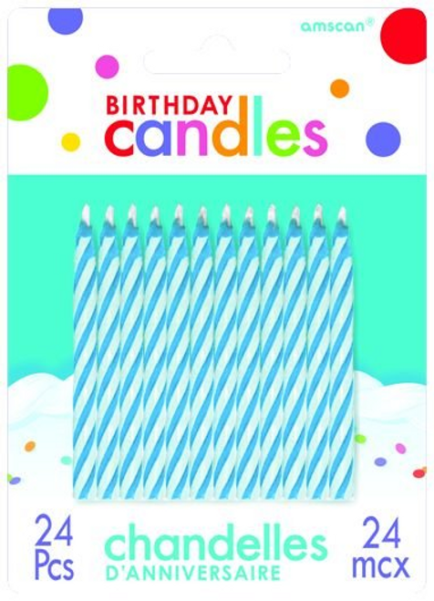 Candy Stripe Candle Blue