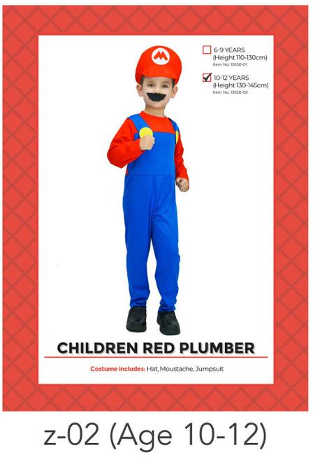 Children Mario Costume (10-12 years)