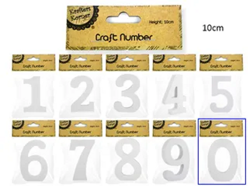 10CM WHITE NUMBERS