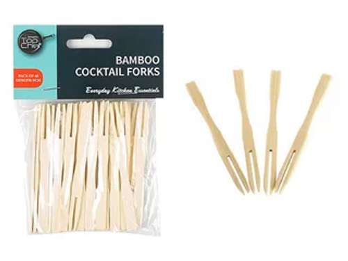 BAMBOO COCKTAIL FORKS/40
