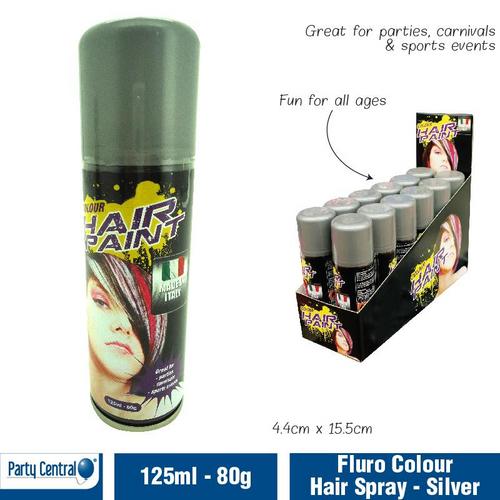 Hair Spray Floro Colour - (Silver) 125ml
