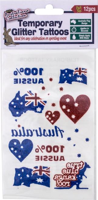 Tattoos Australiana Glitter 12pc